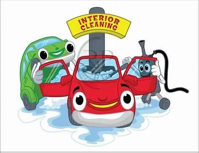 Carwash Cartoon Cleaning Project Interior Cartoons