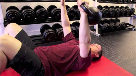 kettlebell deltoid chest floor press workout triceps