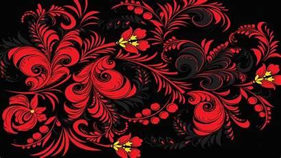 Mandala Pattern Background Texture Russia Khokhloma