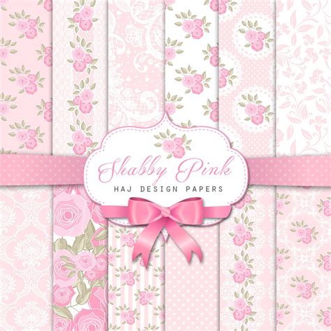 shabby chic pink shabby chic digital paper shabby pink pink and