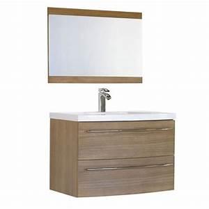 Alinea Miroir Salle De Bain : meuble de salle de bain olea en mdf et vasque en r sine de ~ Teatrodelosmanantiales.com Idées de Décoration