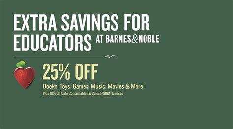 barnes and noble educator educator appreciation weekends save 25 at barnes