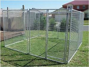Pet enclosure dog kennel fencing run sheep chook goat for Dog fence enclosure
