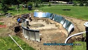installation d39une piscine creusee etape 03 l With construire une piscine en bois sois meme