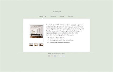 vcard template free 20 fresh free templates in html css and psd december