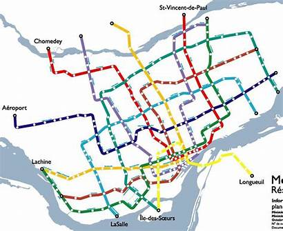 Metro Montreal Map Stm 1982 Expansion 1967