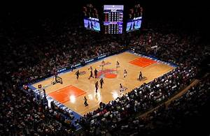 Knicks snap skid force game 5 vs miami photos melo for Madison square garden knicks