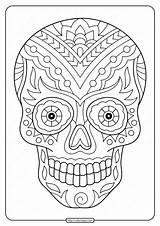 Skull Sugar Coloring Printable Pdf sketch template