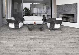 Carrelage Terrasse Gris : carrelage terrasse hard gris 15x61cm ~ Nature-et-papiers.com Idées de Décoration
