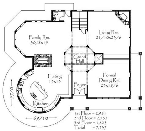 Viktorianisches Haus Grundriss by Country House Plans Home Plans M 7337 16741
