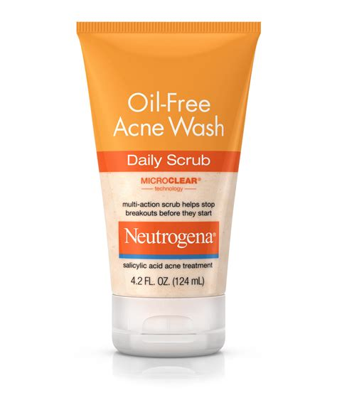 oil  acne face wash daily scrub neutrogena