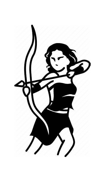Artemis Goddess Clipart Greek Archer Icon Archery