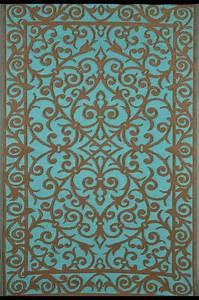 garten im quadrat outdoor teppich gala turkis blau gold With balkon teppich mit tapete bordeaux gold