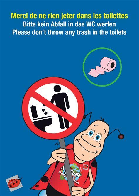 affiche ne rien jeter dans les toilettes affiche toilettes propres entreprise