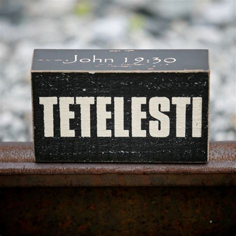 tetelesti john     greek word