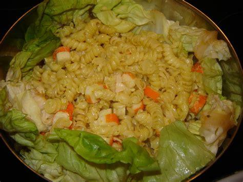 salade de pates froide au surimi salade de p 226 tes surimi au curry un peu de r 234 ve dans ma cuisine