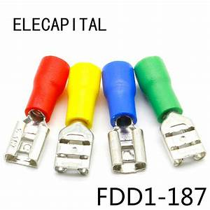 Fdd1 187 Female Insulated Electrical Crimp Terminal For 22