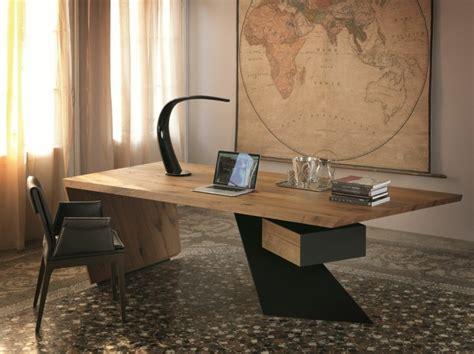 bureau bois massif moderne bureau bois design 50 belles propositions