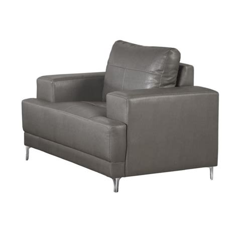 leather accent chair in charcoal gray i8601gy