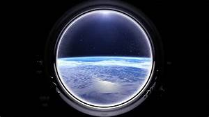 Spaceship Window / Space Travel / Planet Earth. Elements ...