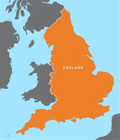 england outline map royalty  editable vector map