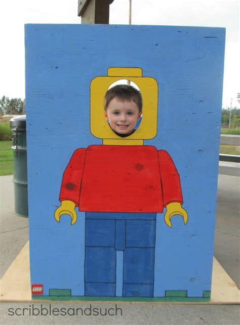 diy lego man photo prop lego party pinterest war