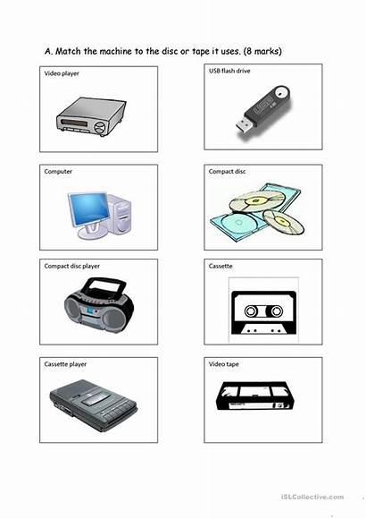 Communication Devices Worksheets Worksheet Printable Computers Esl