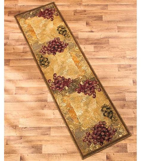grape design kitchen rugs decorative wine vineyard themed runner or accent rug 3907
