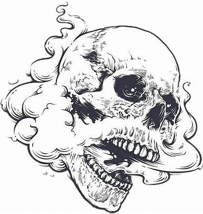Weed Skull Smoke Mouth Edgy Open Dark