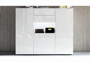 Ikea Wohnzimmer Kommode : highboard leo in wei hochglanz kommode wohnzimmerschrank ~ Lizthompson.info Haus und Dekorationen