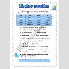 Adjectives+prepositions (exercises)  Esl Worksheet By Manuelanunes3
