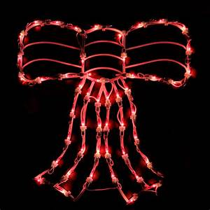 Northlight, 15, U0026quot, Lighted, Red, Bow, Window, Silhouette, Christmas, Decoration