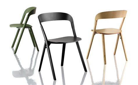 chaise bouroullec pila stackable chair wood black by magis
