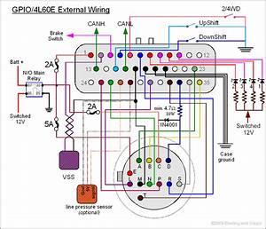 4l60e External Schematic In 4l60e Transmission Wiring