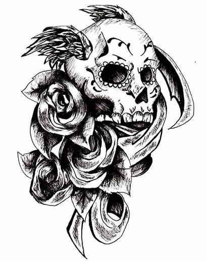 Skull Tattoo Tattoos Transparent Background Roses Dead