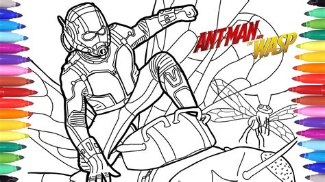 antman   wasp coloring pages marvel superheroes