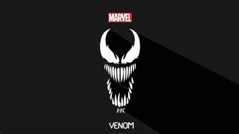 venom  minimalism hd superheroes  wallpapers images