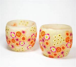124 best images about polymer clay home gifts on pinterest for Kitchen cabinets lowes with polymer clay candle holder