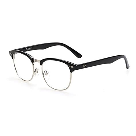 blue light glasses clear cyxus blue light blocking semi rimless computer glasses