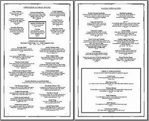 Free printable template restaurant menus simple menu template that can be edited to for Menu format free
