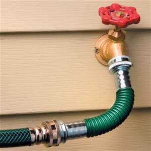 Garden Hose Extension Running Extension From Outside