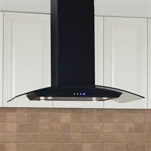 kitchen island range hoods casa series 36 quot stainless steel black island range