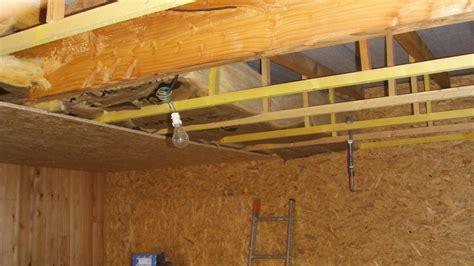 isolation sous plafond garage isolation sous plafond