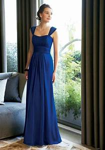 blue chiffon bridesmaid dress with floor lengthcherry With blue dress for wedding