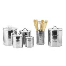 vintage ceramic kitchen canisters stainless steel hammered 4 canister set