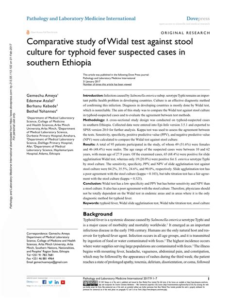 stool culture pdf pdf comparative study of widal test against stool