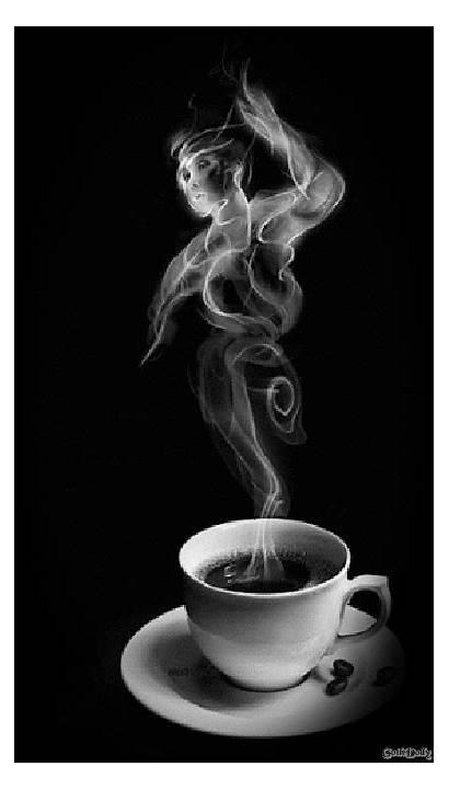 Coffee Smoke Morning Steam Giphy Gifs Cups