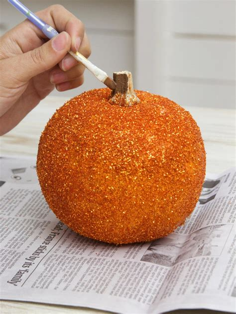 glittered pumpkins hgtv
