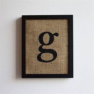 letter g monogram burlap wall decor alphabet art With letter g wall art