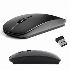 Slim 2 4 Ghz Wireless Optical Mouse Mice Mause For Laptop